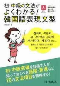 初.中級の文法がよくわかる!韓國語表現文型