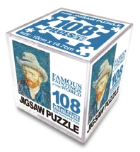 명화 직소퍼즐 미니 Cube 108pcs: 회색 펠트 모자를 쓴 자화상