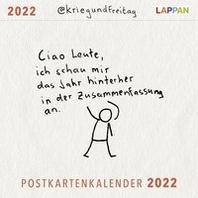 @kriegundfreitag Postkartenkalender 2022