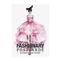 Fashionary Watercolor Postcards Book Women /Anglais