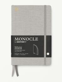 모노클 소프트커버 도트 노트 B6 라이트 그레이(Monocle Booklinen Softcover Dot B6 Light Grey)