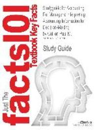 Studyguide for Accounting for Managers