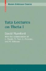 Tata Lectures on Theta I