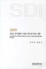 부동산 경기침체가 서울시 세수에 미치는 영향(2009)