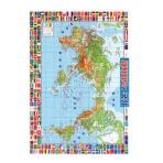 세계지도와 국기(벽보)(완구/교구)
