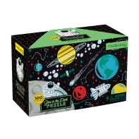 Mudpuppy 100-Piece Outer Space Glow-in-the-Dark Puzzle