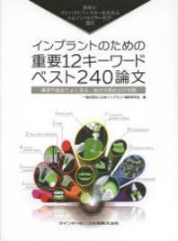 インプラントのための重要12キ-ワ-ド.ベスト240論文 世界のインパクトファクタ-を決めるトムソン.ロイタ-社が選出 講演や雜誌でよく見る,あの分類および文獻