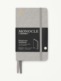 모노클 하드커버 도트 노트 A6 라이트 그레이(Monocle Booklinen Hardcover Dot A6 Light Grey)
