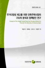 주거다양성 제고를 위한 단독주택시장의 구조적 분석과 정책방안 연구
