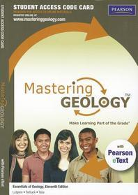 Masteringgeology with Pearson Etext -- Standalone Access Card -- For Essentials of Geology
