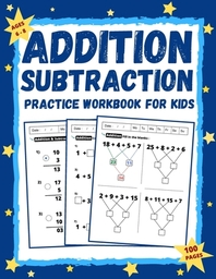 Addition and Subtraction Workbook for Kids Ages 6-8