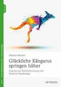 Glueckliche Kaengurus springen hoeher