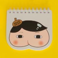 엉덩이탐정 모양 노트(노랑)