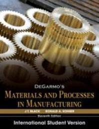 Degarmos Materials and Processes in Manufacturing (Paperback)