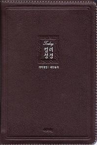 명품 투데이컬러성경&새찬송가(중/합본/색인/천연우피/지퍼/다크브라운)(개역개정)