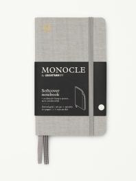 모노클 소프트커버 도트 노트 A6 라이트 그레이(Monocle Booklinen Softcover Dot A6 Light Grey)