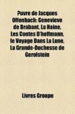 Uvre de Jacques Offenbach