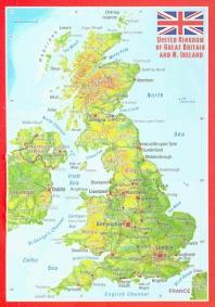 미니 입체지도 영국