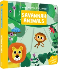 My First Animated Board Book: Savannah Animals