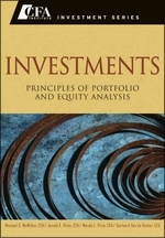 Investments : Principles of Portfolio and Equity Analysis (Hardcover)