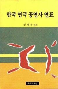 한국 연극 공연사 연표