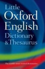 LITTLE OXFORD ENGLISH DICTIONARY THESAURUS