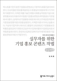 실무자를 위한 기업 홍보 콘텐츠 작법 (큰글씨책)