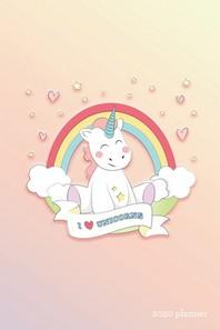 I Love Unicorns 2020 Planner