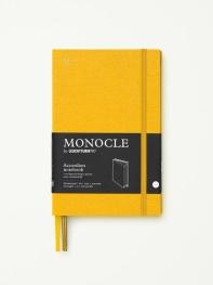 모노클 아코디언홀더 도트 노트 B6 옐로우(Monocle Accordion Notebook Dot B6 Yellow)