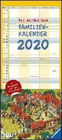 Ali Mitgutsch Familienkalender 2020 - Wandkalender - Familienplaner mit 5 Spalten