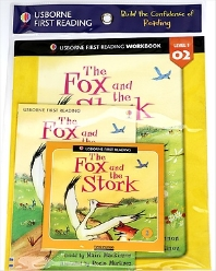 Usborne First Reading Workbook Set 1-2 : The Fox and the Stork (with CD)