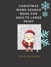 Christmas Word Search Book For Adults Large Print