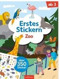 Erstes Stickern Zoo