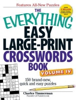 The Everything Easy Large-Print Crosswords Book, Volume 4