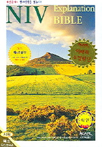 NIV영문성경 특소 지퍼 단본색인 다크브라운