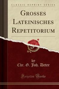 Groes Lateinisches Repetitorium (Classic Reprint)