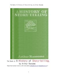 문학작품을 구연 이야기하는 역사의책.The Book of A History of Story-telling, by Arthur Ransome