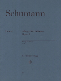 슈만 아베그변주곡 Op. 1(HN 87)