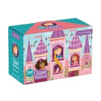 Mudpuppy Princess Glitter Puzzle (100 Piece)