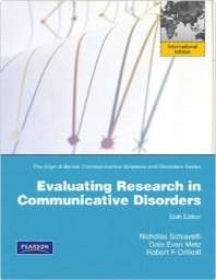 Evaluating Research in Communicative Disorders