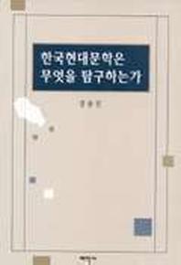 한국 현대문학은 무엇을 탐구하는가