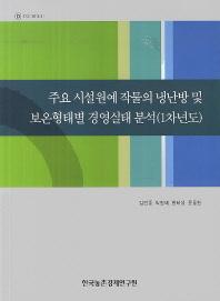주요 시설원예 작물의 냉난방 및 보온형태별 경영실태 분석(1차년도)