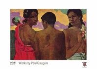 Works by Paul Gauguin 2021 - White Edition - Timocrates wall calendar with US holidays / picture calendar / photo calendar - DIN A3 (42 x 30 cm)
