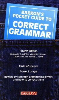 Barron's Pocket Guide to Correct Grammar