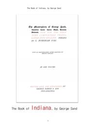 조르주 상드의 인디아나. The Book of Indiana, by George Sand