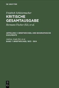 Briefwechsel 1803 - 1804
