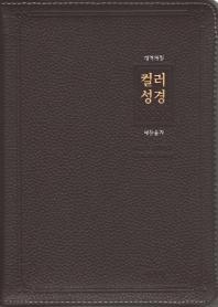 큰글자 컬러성경&새찬송가(대)(개역개정)(합본)(색인)(천연우피)(다크브라운)(지퍼)