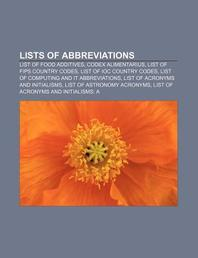 Lists of Abbreviations