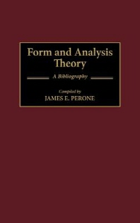 Form and Analysis Theory: A Bibliography