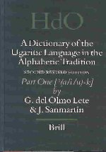 A Dictionary of the Ugaritic Language in the Alphabetic Tradition (2 Vols)